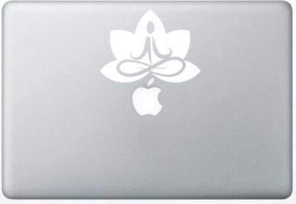 meditation with lotus vinyl decal