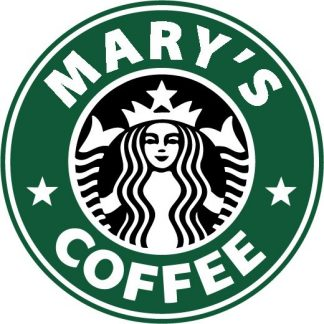 Custom Starbucks Logo 2 Color Vinyl Decal
