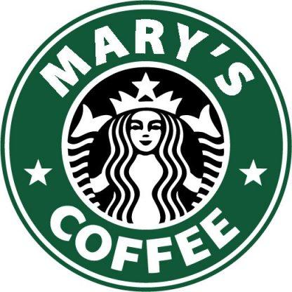 Custom Starbucks Logo 2 Color Vinyl Decal