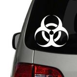 Biohazzard Symbol Vinyl Decal