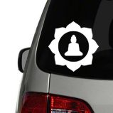 Buddha in Lotus Flower - Solid Vinyl Decal