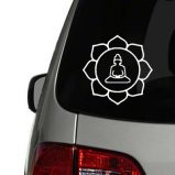 Buddha in Lotus Flower - Outline Vinyl Decal