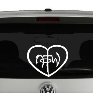 Not Of This World with Heart Vinyl Decal