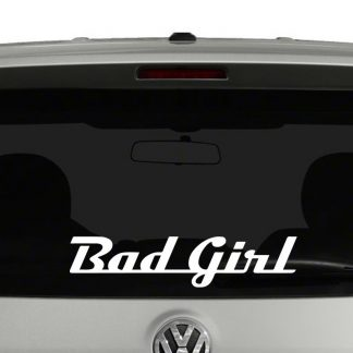 Bad Girl Word Art Vinyl Decal