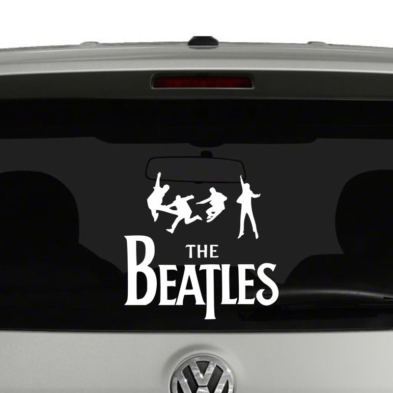 The Beatles with Band Silhouette Vinyl Decal