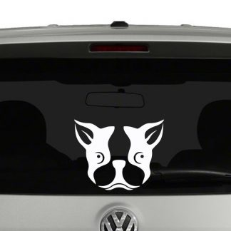 Boston Terrier Face Vinyl Decal