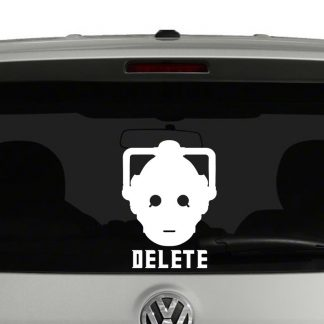 Doctor Who Cyberman Delete Vinyl Decal