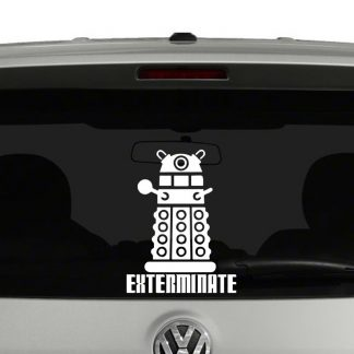 Doctor Who Dalek Exterminate Vinyl Decal