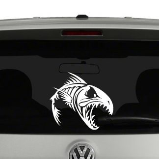 Skeleton Fish Vinyl Decal