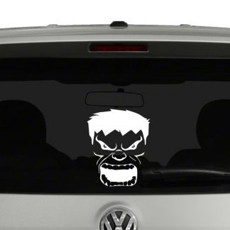 Hulk Face Vinyl Decal