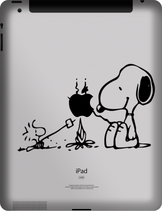 Snoopy and Woodstock iPad-MacBook Vinyl Decal