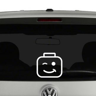 Lego Head Vinyl Decal