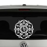 Om Mani Padme Hum on Lotus Vinyl Decal