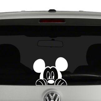 Peeking Mickey Mouse Vinyl Decal