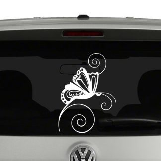 Swirly Butterfly Vinyl Decal