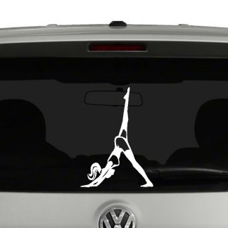 Silhouette Yoga Pose Vinyl Decal