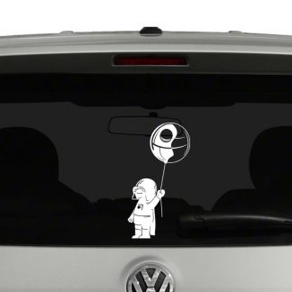 Baby Darth Vader with Death Star Vinyl Decal