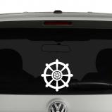 Buddhist Dharma Wheel Vinyl Decal