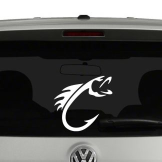 Fly Fishing Fish Hook Vinyl Decal