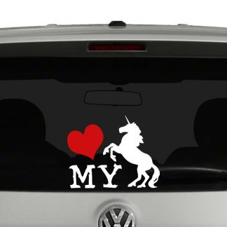 Love My Unicorn Sillhouette Vinyl Decal