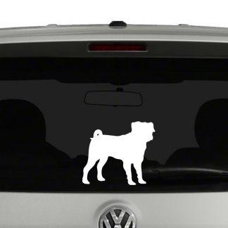 Pug Dog Sillhouette Vinyl Decal