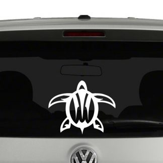 Sea Turtle Hawaiian Tribal Vinyl Decal