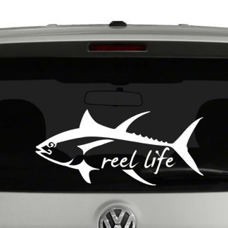 Tuna Fish Reel Life Vinyl Decal