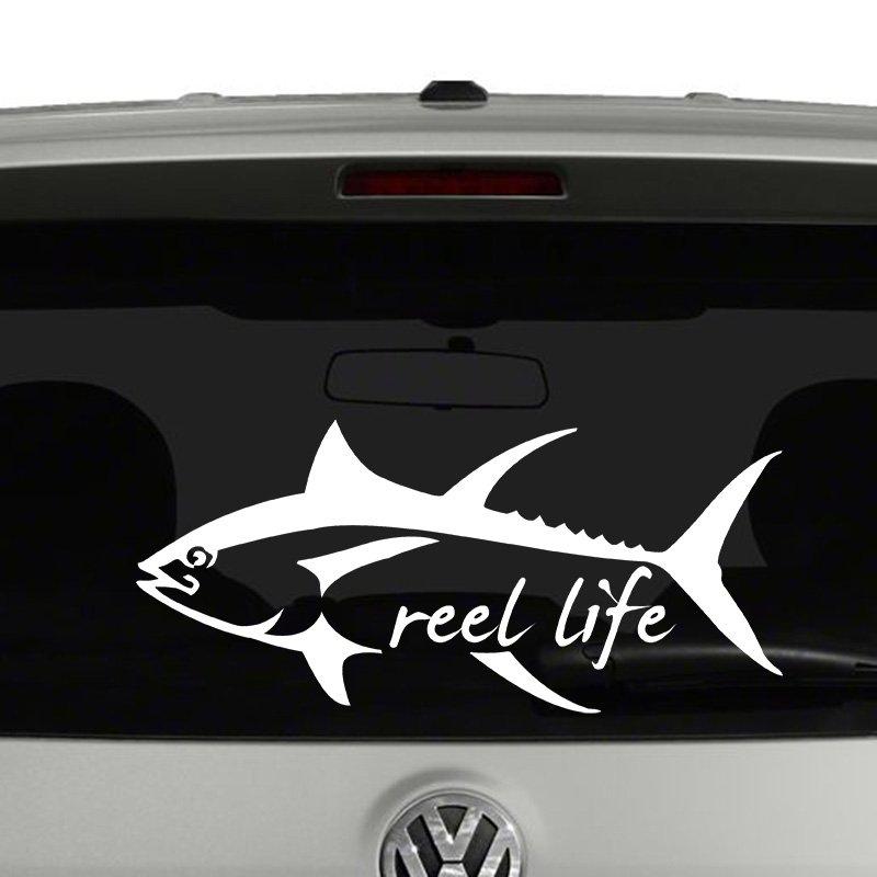Tuna Fish Reel Life Vinyl Decal
