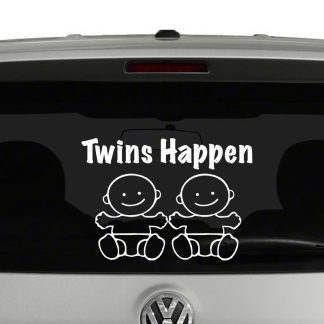 Twins Happen Boys Vinyl Decal