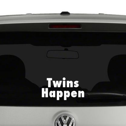Twins Happen Vinyl Decal
