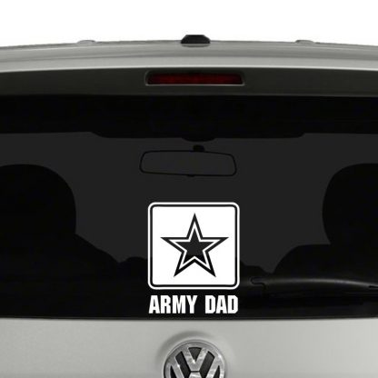 Army Dad Logo Vinyl Decal