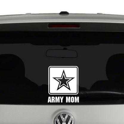 Army Mom Logo Vinyl Decal