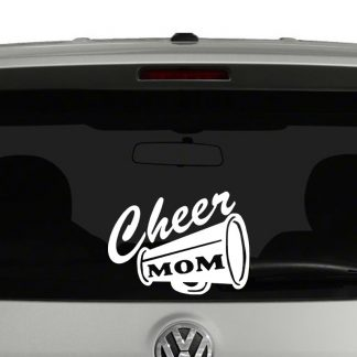 Cheer Mom Megaphone Vinyl Decal