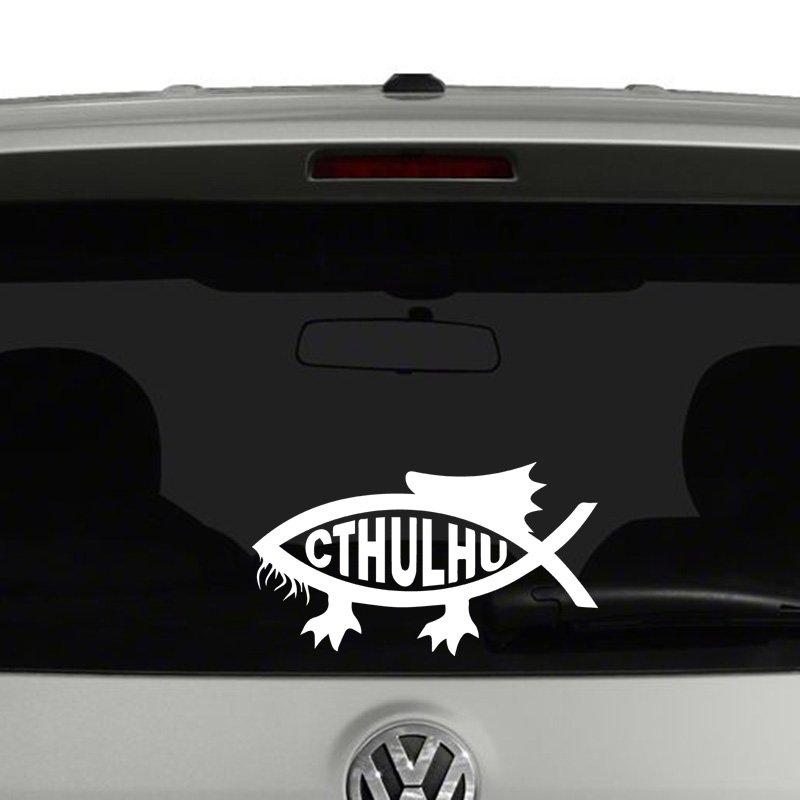 Cthulhu Darwin Fish Vinyl Decal