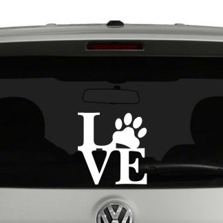 Pet Love Paw Print Vinyl Decal