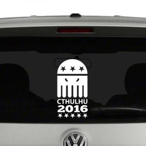 Cthulhu 2016 For President Vinyl Decal