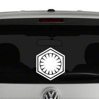 Star Wars First Order Emblem Vinyl Decal