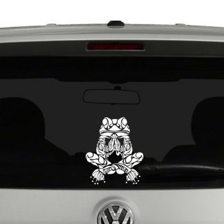 Tribal Meditating Frog Vinyl Decal