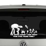 The Empire Doesn't Care About Your Stick Figure Family AT AT Vinyl Decal