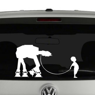 Star Wars Inspired Boy and His Pet AT-AT Vinyl Decal