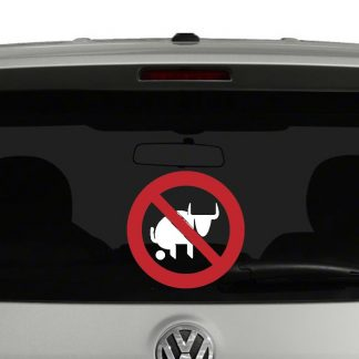 No Bull Sh**ting Vinyl Decal Sticker