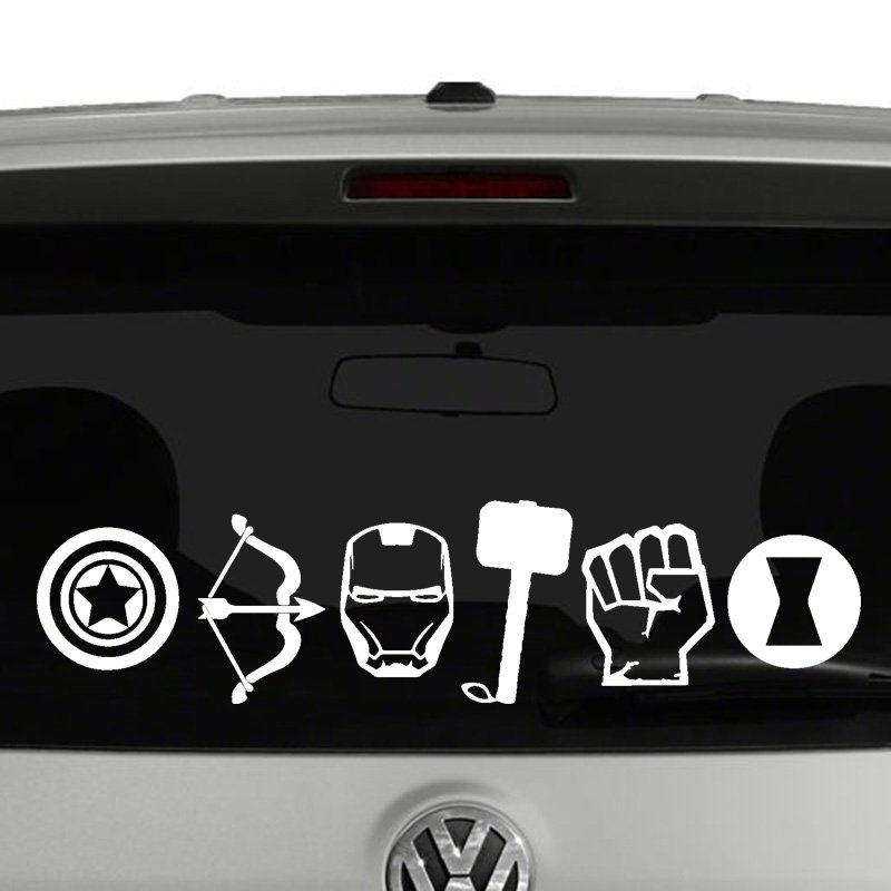 Avengers Icons Vinyl Decal Sticker