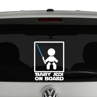 Baby Jedi On Board Vinyl Decal