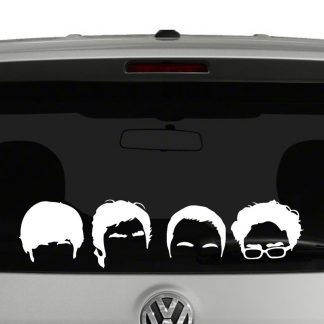 Big Bang Theory Head Silhouette Vinyl Decal Sticker