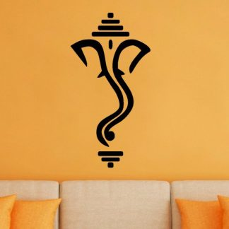 Ganesha Minimal Line Art Vinyl Wall Decal