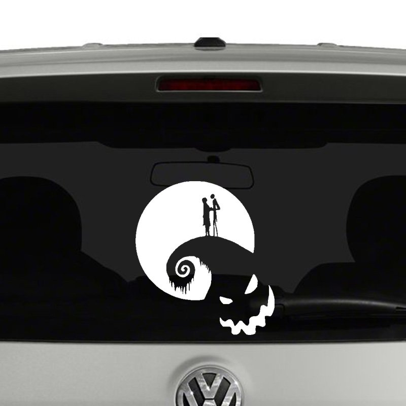 Nightmare Before Christmas Jack and Sally Vinyl Decal Sticker