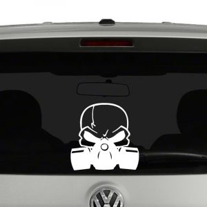 Skull with Gas Mask Vinyl Decal Sticker