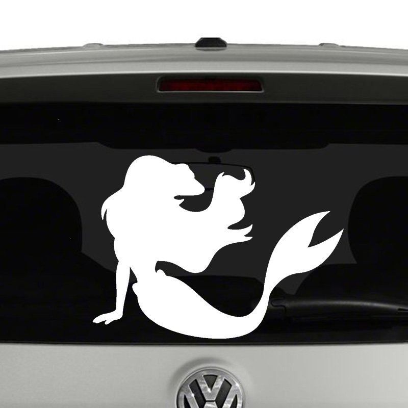 Ariel Little Mermaid Silhouette Vinyl Decal Sticker