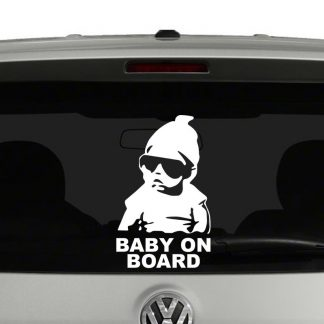 Baby On Board Baby Sunglasses Vinyl Decal Sticker