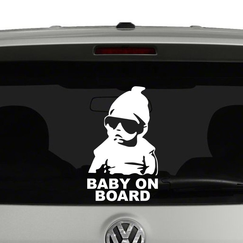 Baby On Board Baby Sunglasses Vinyl Decal Sticker